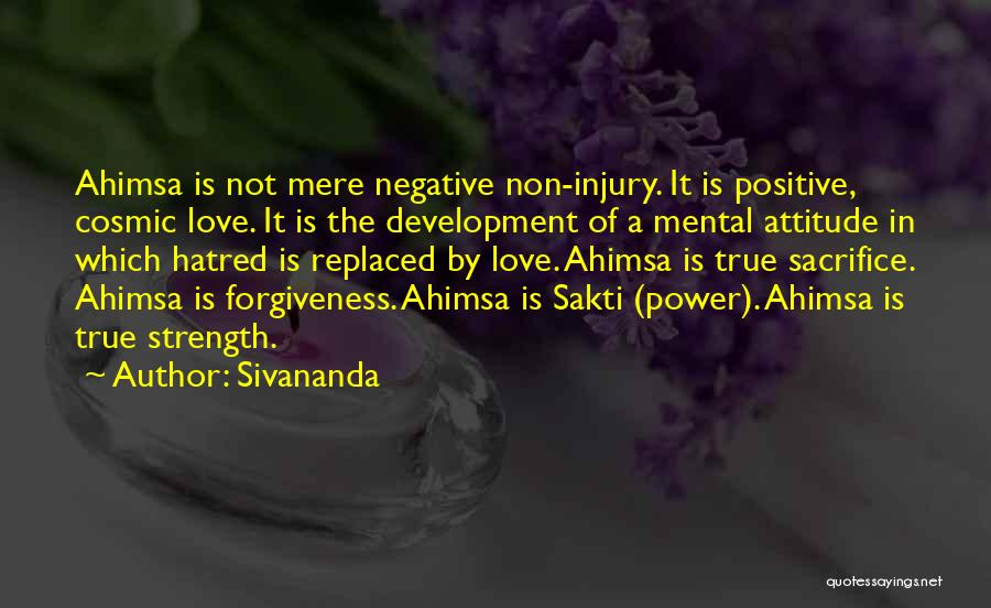 The Power Of Forgiveness Quotes By Sivananda