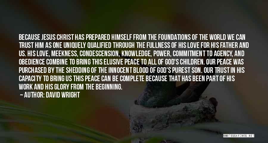 The Power Of God's Love Quotes By David Wright