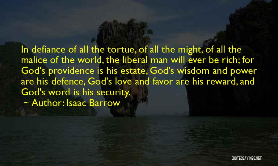 The Power Of God's Love Quotes By Isaac Barrow