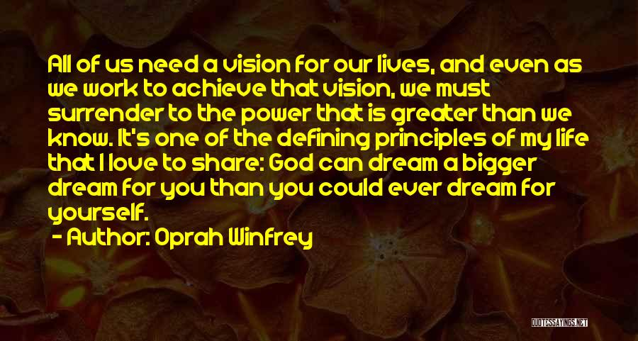 The Power Of God's Love Quotes By Oprah Winfrey
