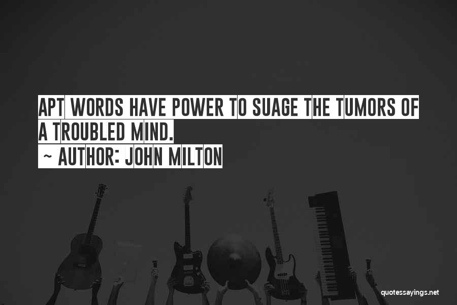 The Power Words Quotes By John Milton