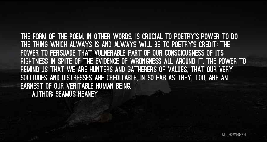 The Power Words Quotes By Seamus Heaney