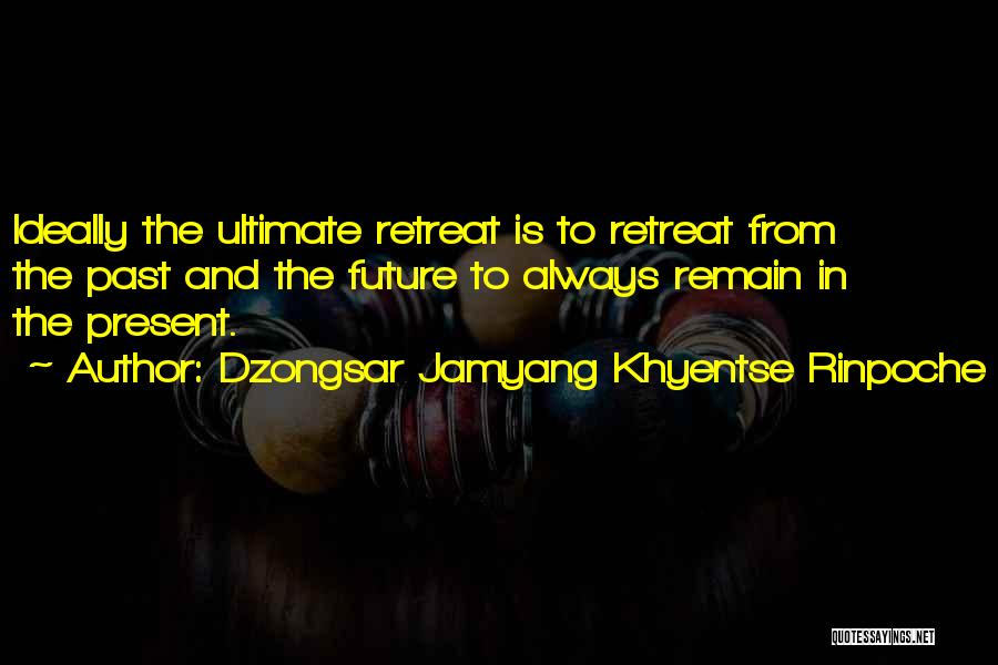 The Present Past And Future Quotes By Dzongsar Jamyang Khyentse Rinpoche