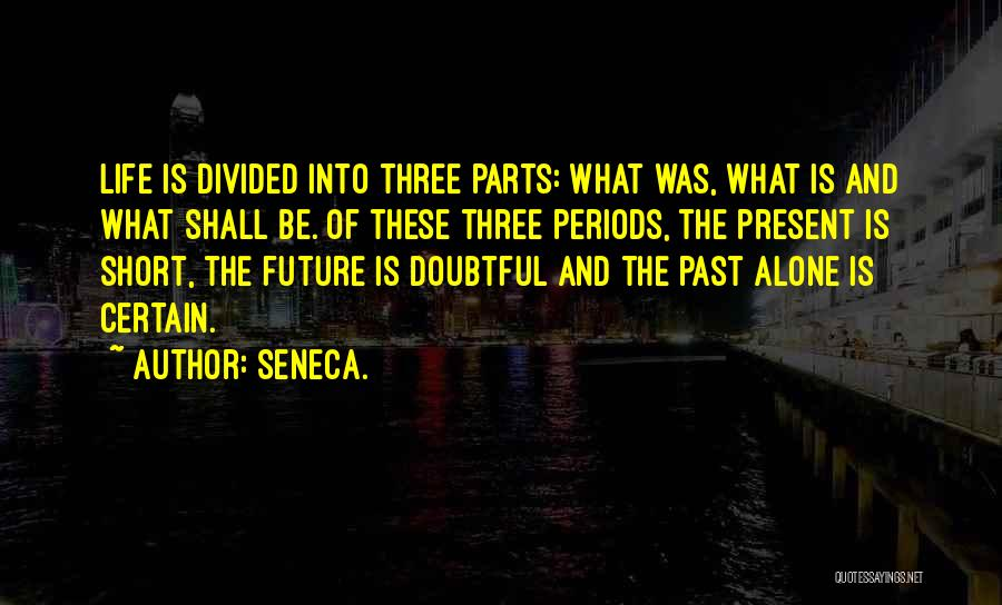 The Present Past And Future Quotes By Seneca.