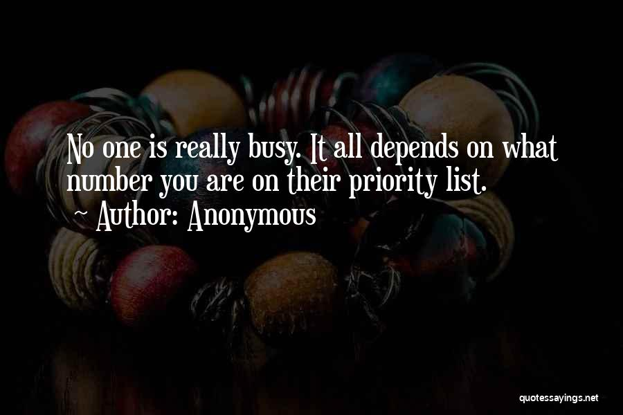The Priority List Quotes By Anonymous