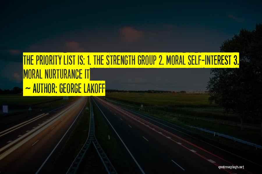 The Priority List Quotes By George Lakoff