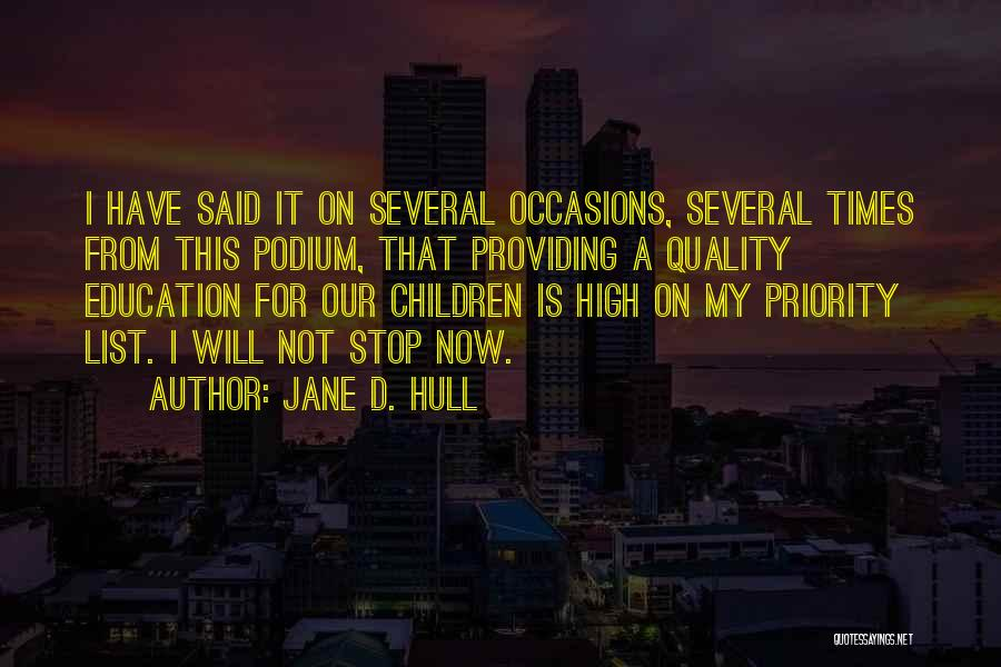 The Priority List Quotes By Jane D. Hull