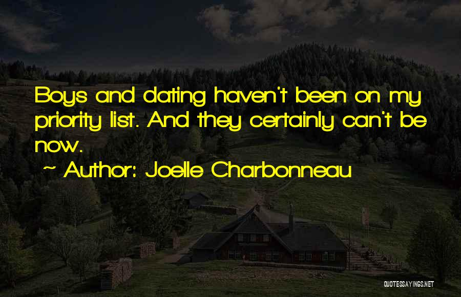 The Priority List Quotes By Joelle Charbonneau