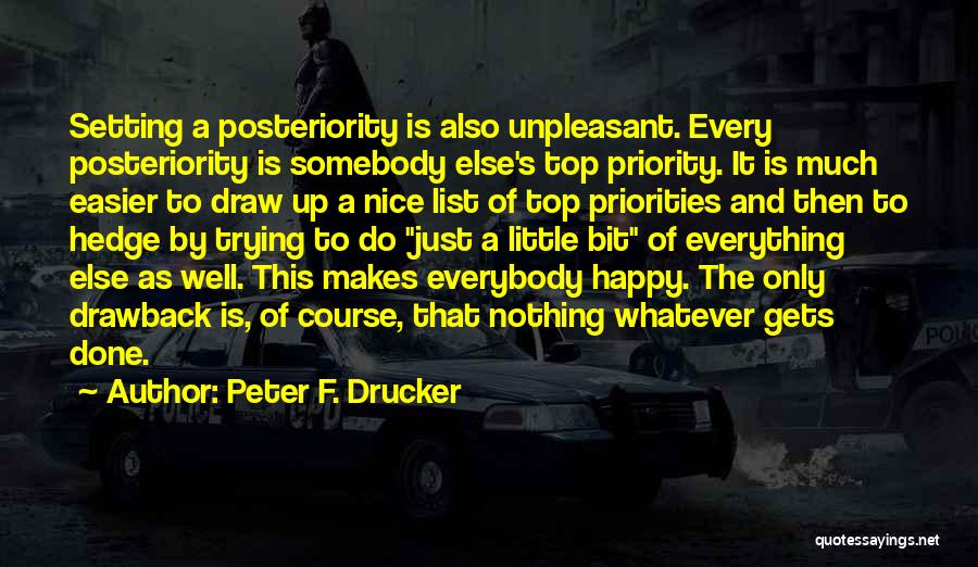 The Priority List Quotes By Peter F. Drucker