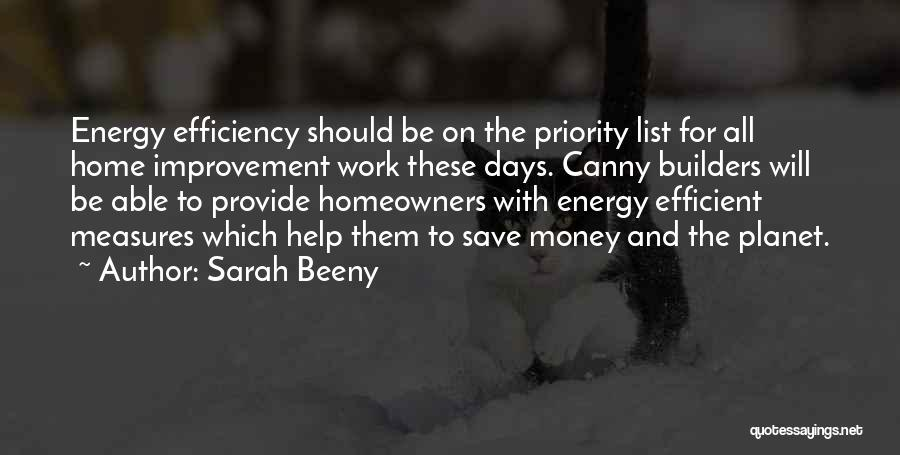The Priority List Quotes By Sarah Beeny