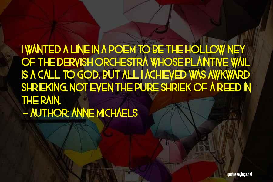 The Rain Poem Quotes By Anne Michaels