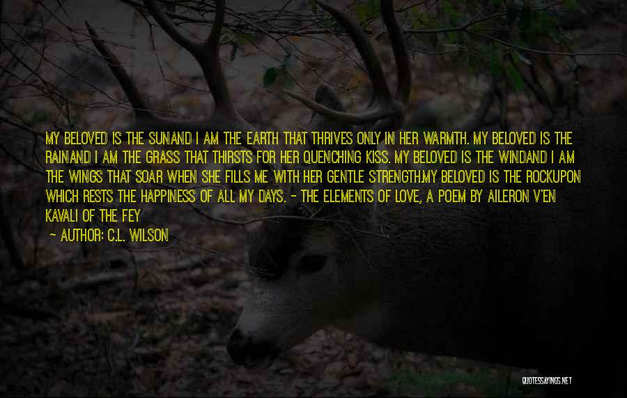 The Rain Poem Quotes By C.L. Wilson