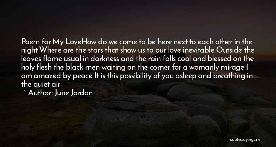 The Rain Poem Quotes By June Jordan