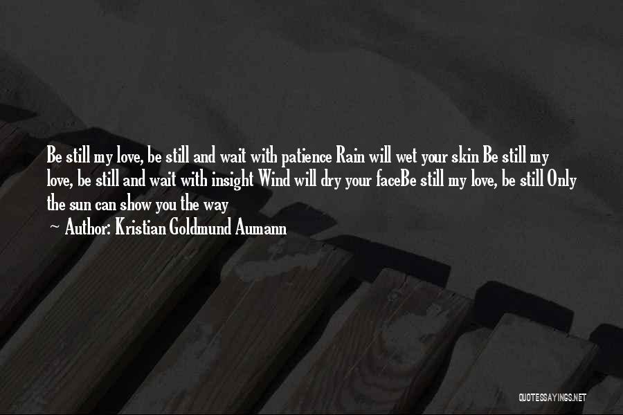 The Rain Poem Quotes By Kristian Goldmund Aumann
