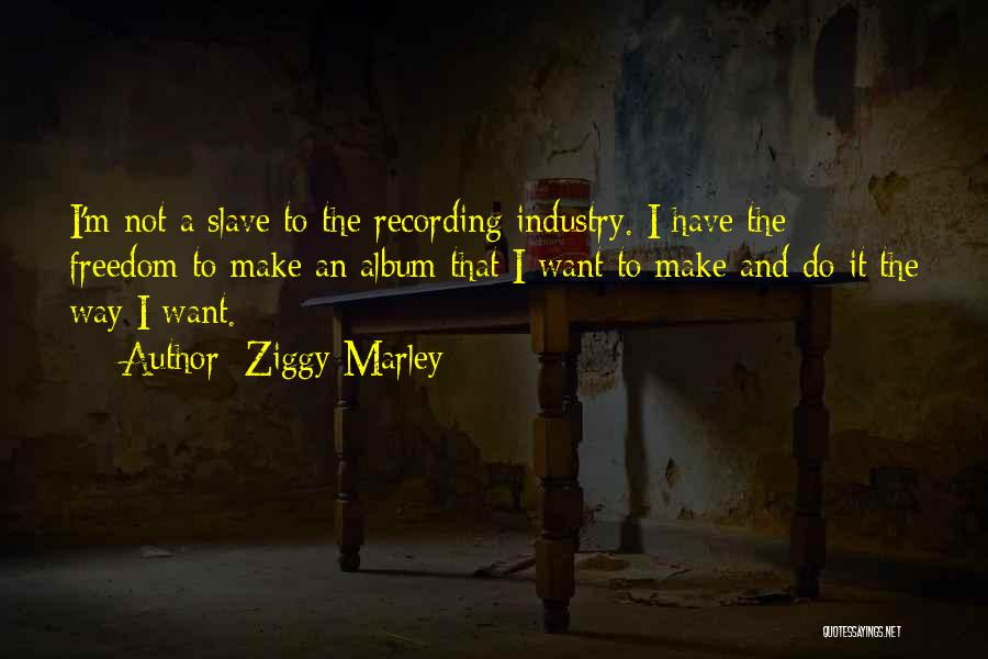 The Recording Industry Quotes By Ziggy Marley