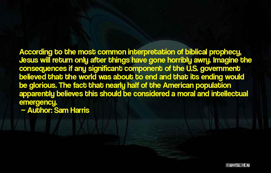The Return Of Jesus Quotes By Sam Harris