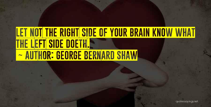 The Right Side Of The Brain Quotes By George Bernard Shaw