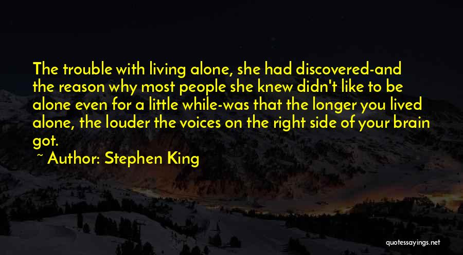 The Right Side Of The Brain Quotes By Stephen King