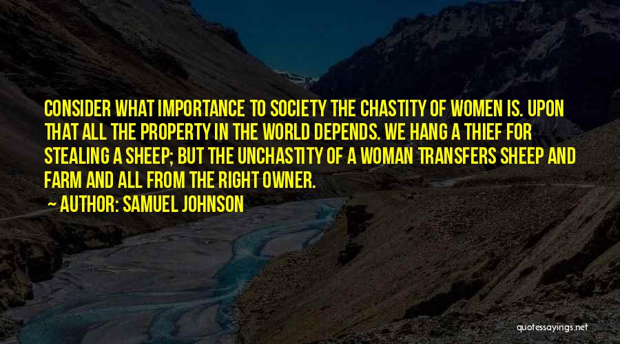 The Right Woman Quotes By Samuel Johnson