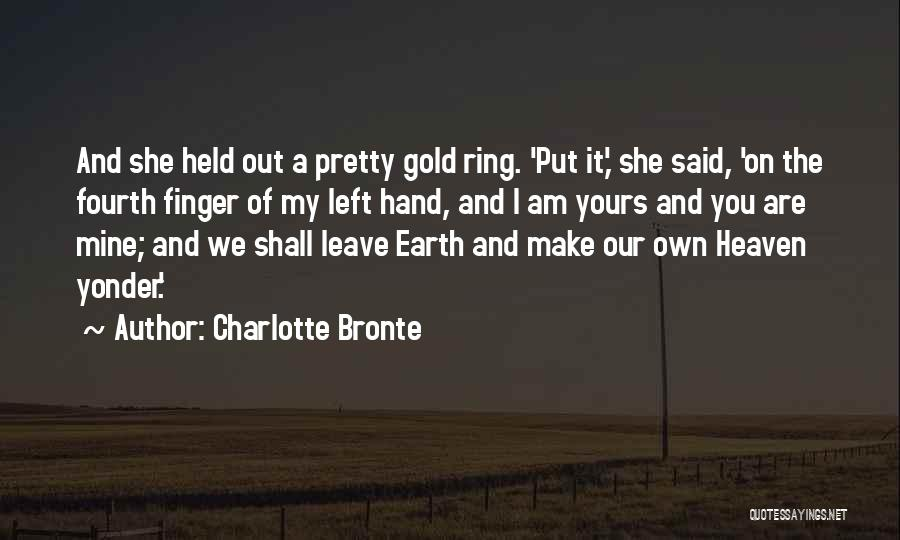 The Ring Finger Quotes By Charlotte Bronte
