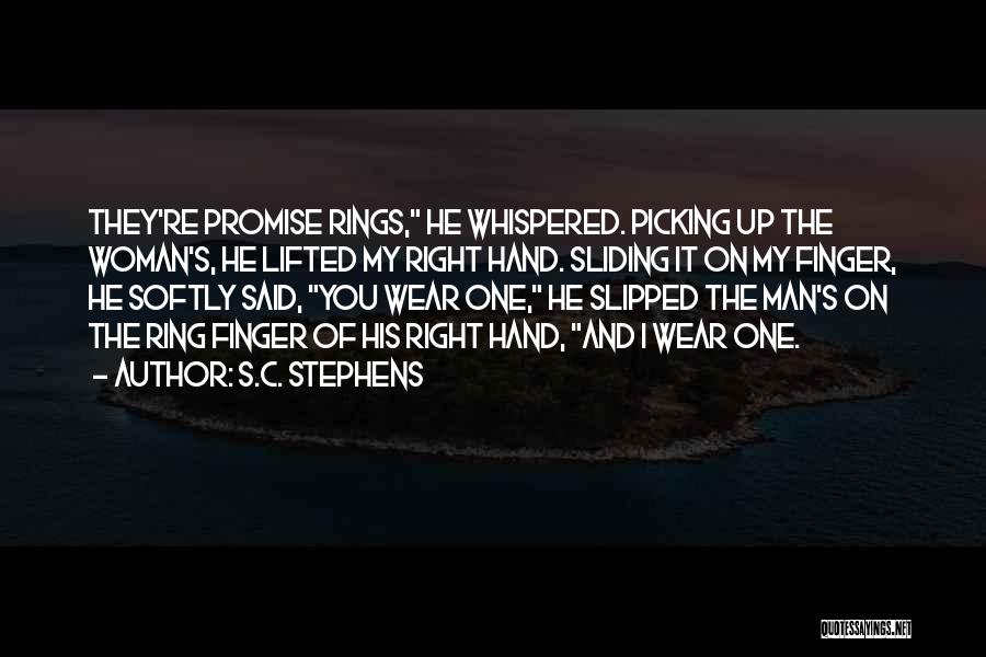 The Ring Finger Quotes By S.C. Stephens