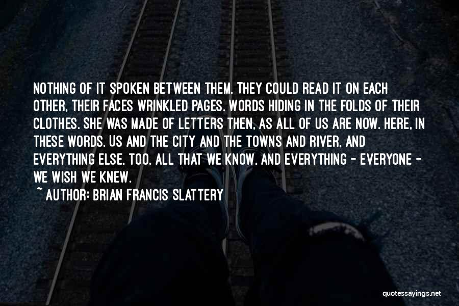 The River Between Us Quotes By Brian Francis Slattery
