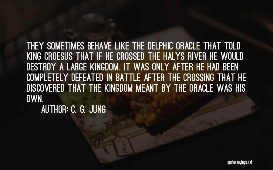 The River King Quotes By C. G. Jung