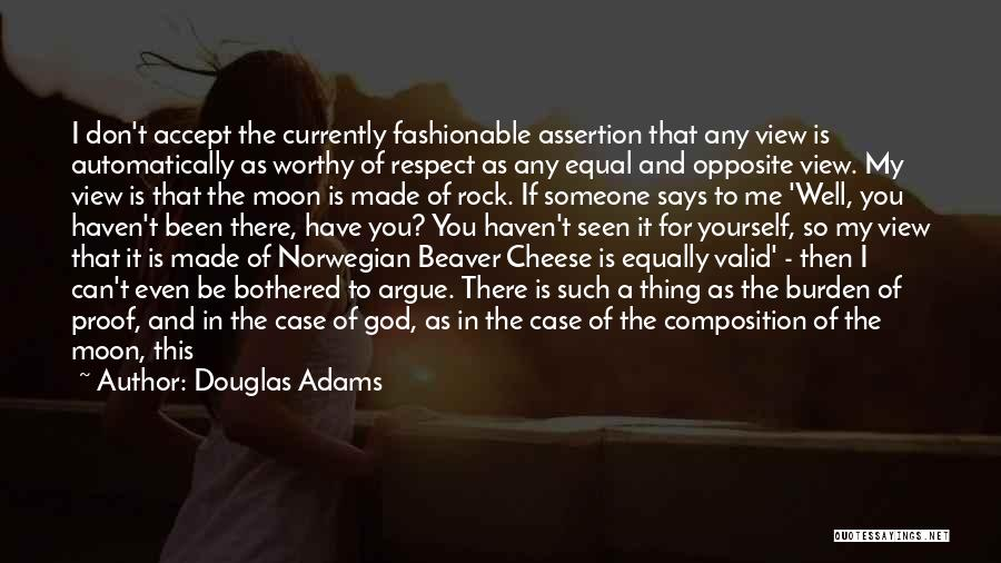 The Rock Says Quotes By Douglas Adams