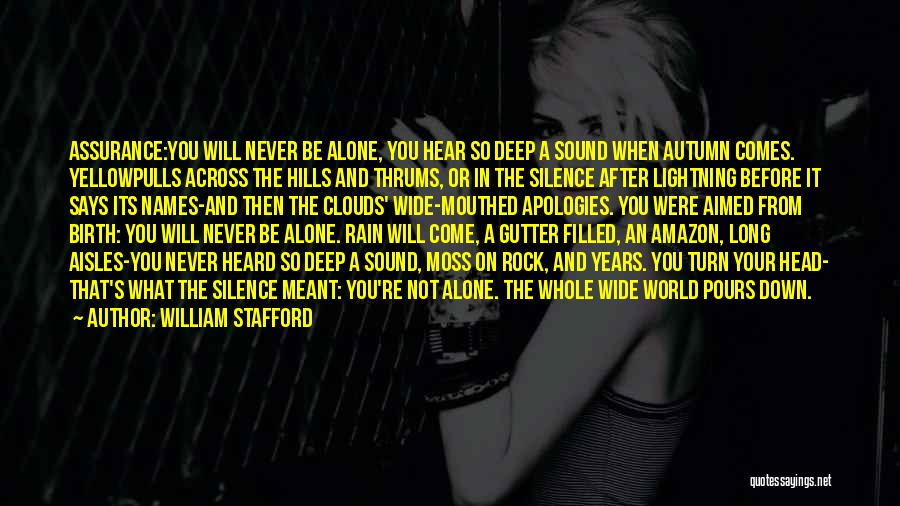 The Rock Says Quotes By William Stafford