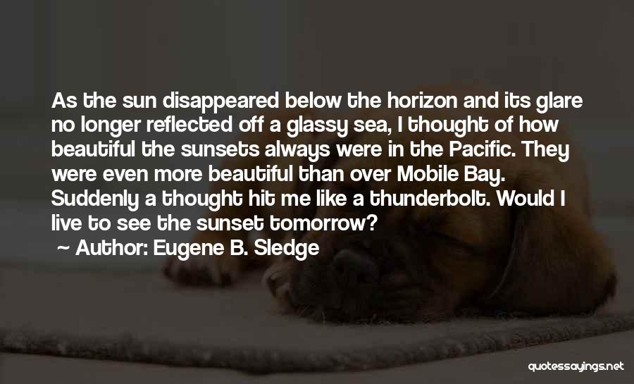 The Sea And Sun Quotes By Eugene B. Sledge
