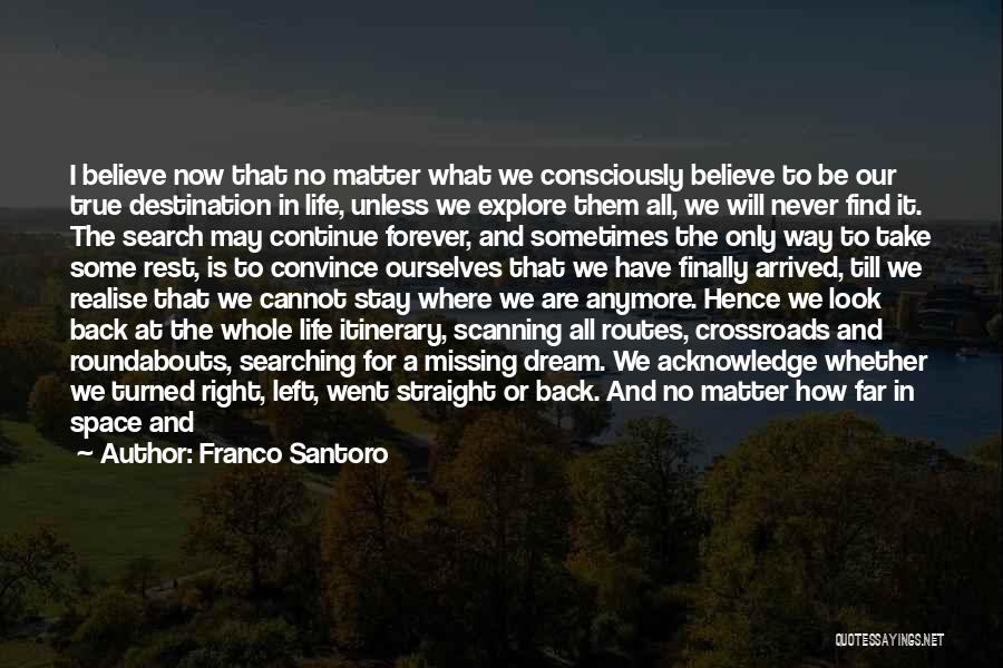 The Search For Happiness Quotes By Franco Santoro