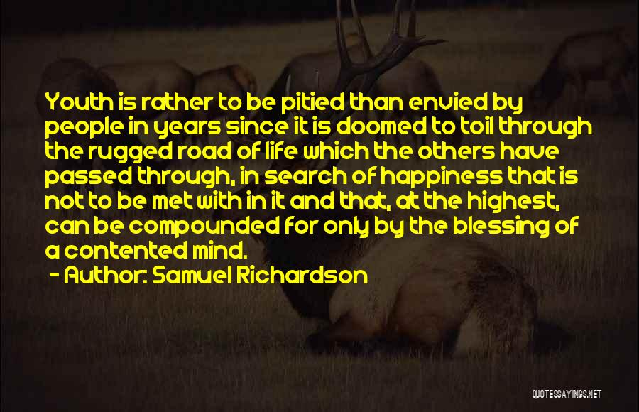 The Search For Happiness Quotes By Samuel Richardson