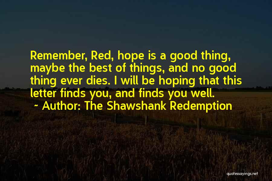 The Shawshank Redemption Quotes 2023648
