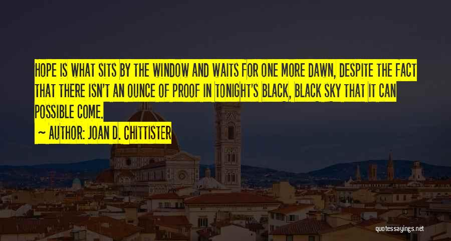 The Sky And Hope Quotes By Joan D. Chittister