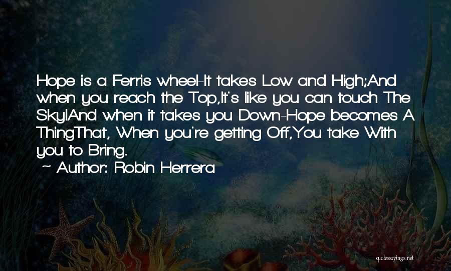 The Sky And Hope Quotes By Robin Herrera