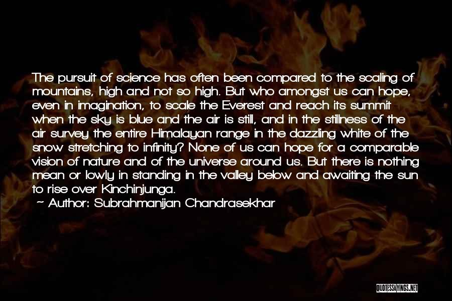 The Sky And Hope Quotes By Subrahmanijan Chandrasekhar
