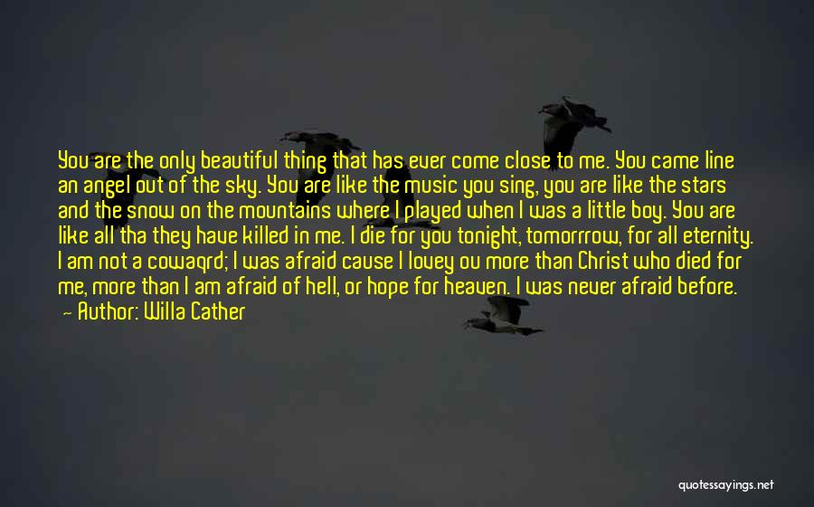 The Sky And Hope Quotes By Willa Cather