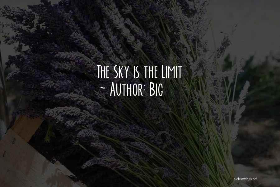 The Sky's Not The Limit Quotes By Big