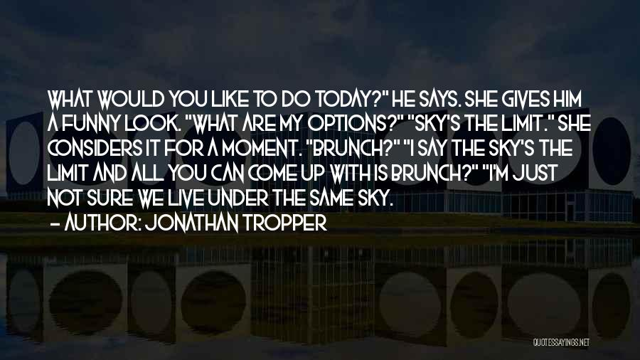 The Sky's Not The Limit Quotes By Jonathan Tropper