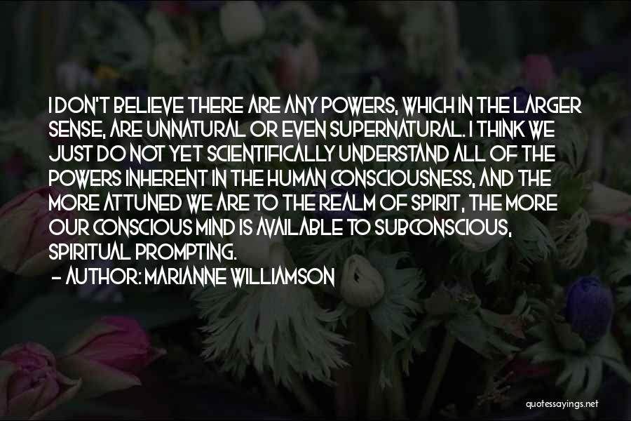The Spirit Realm Quotes By Marianne Williamson