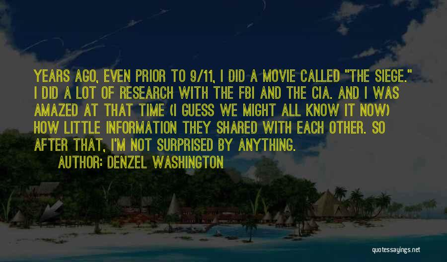 The Time We Shared Quotes By Denzel Washington