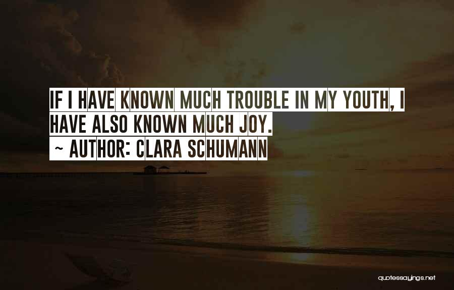 The Trouble With Youth Quotes By Clara Schumann