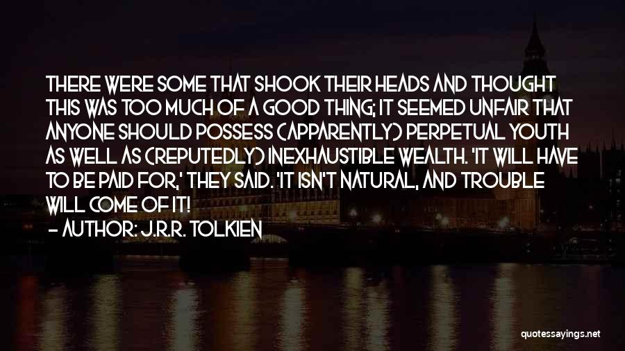 The Trouble With Youth Quotes By J.R.R. Tolkien