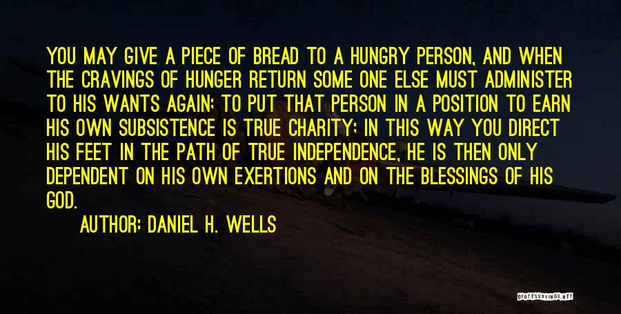 The True Person Quotes By Daniel H. Wells