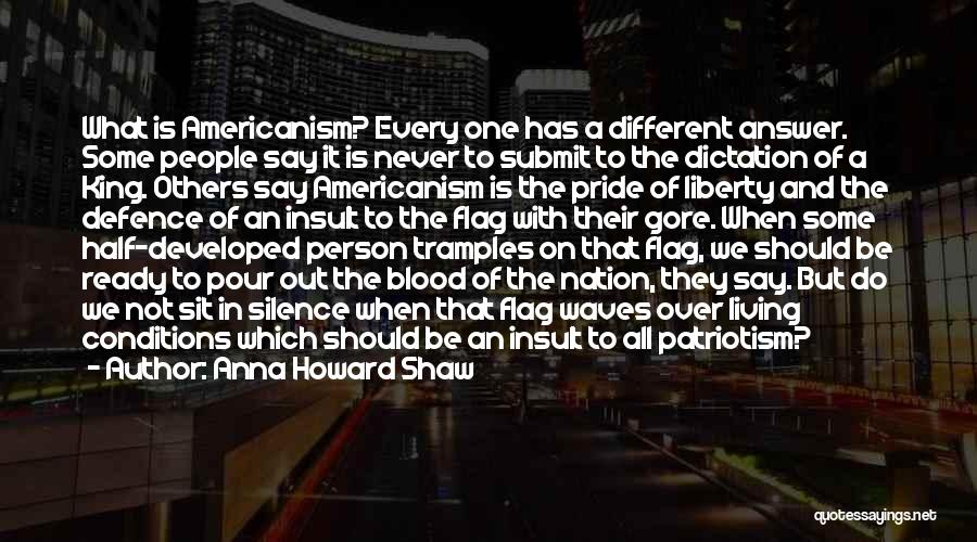The U.s. Flag Quotes By Anna Howard Shaw