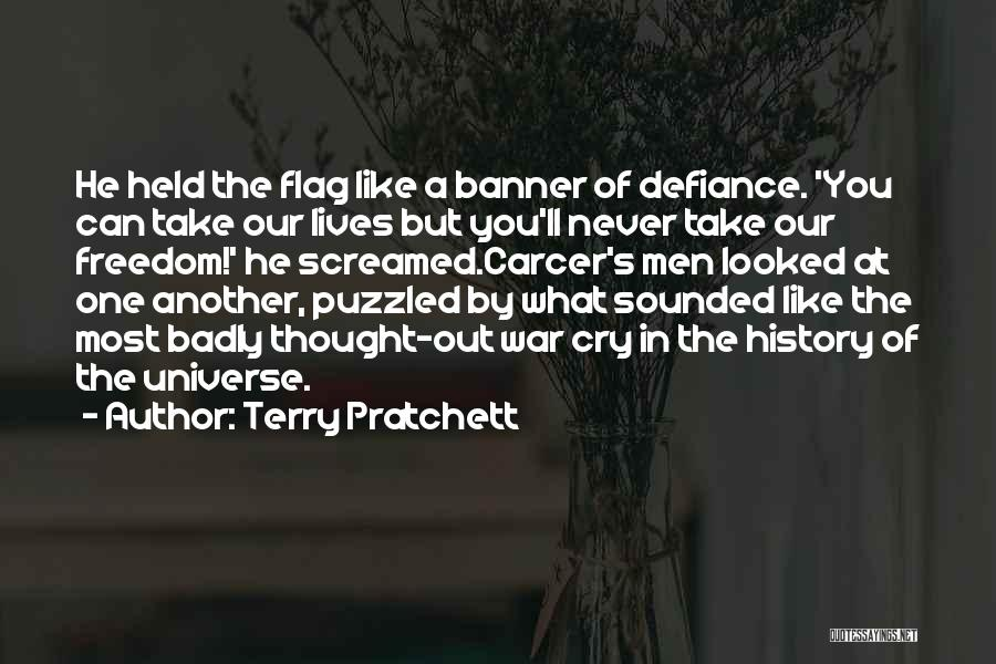 The U.s. Flag Quotes By Terry Pratchett