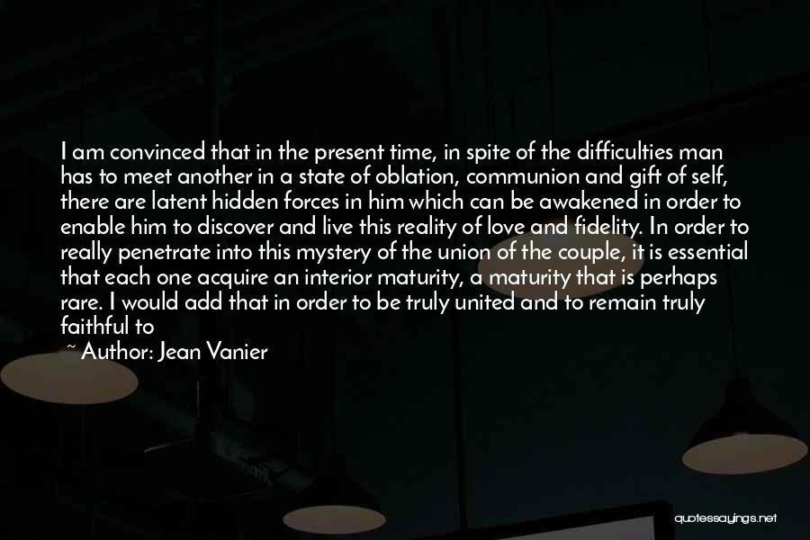 The Union Of Marriage Quotes By Jean Vanier