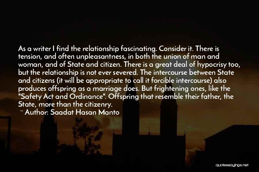 The Union Of Marriage Quotes By Saadat Hasan Manto