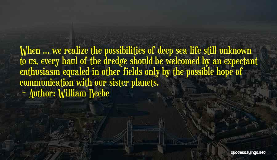 The Unknown Ocean Quotes By William Beebe