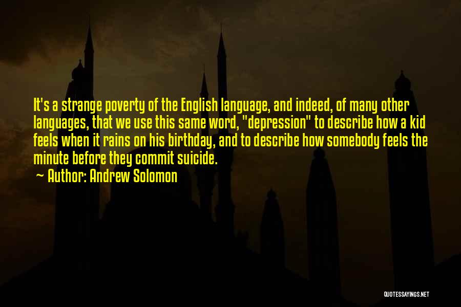 The Use Of English Language Quotes By Andrew Solomon